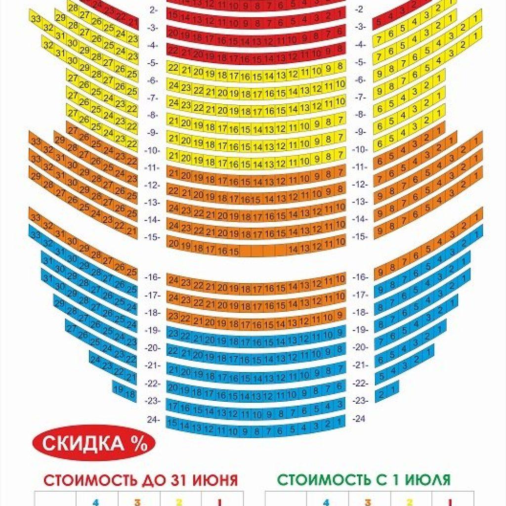 схема зала Хакимов